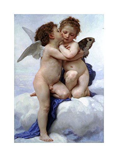 The Art Stop Painting Bouguereau First KISS Old Master Print F12X7961