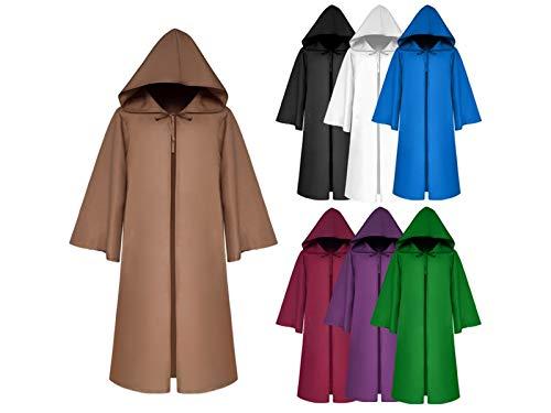 Hezon Happy Festival Christmas Costumes Children Death Cloak Long Hooded Capefor Halloween Party (Blue) (Color : Blue, Size : Length 160cm)