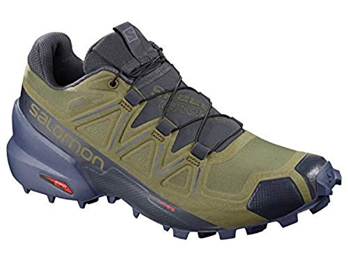 Salomon Women's Speedcross 5 GTX Trail Running Shoes, Burnt Olive/Crown Blue/India Ink, 8 (Best Running Shoes India)