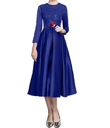 Festlichkleider Formalkleider Ballkleider Partykleider Abendkleider Abschlussballkleider Royal Blau Charmant Damen Knielang 1xwXYX
