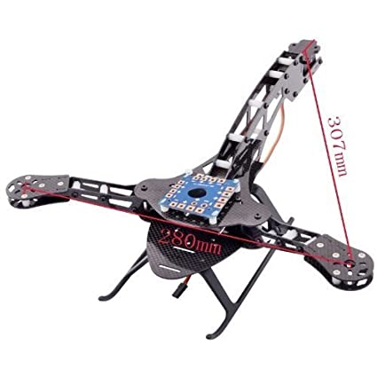 Amazon.com: Docooler HJ-Y3 Carbon Fiber Tricopter/Three-axis ...