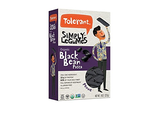 Tolerant Foods Organic Black Bean Pasta-Penne-12 oz by Tolerant Foods