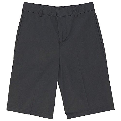 French Toast Little Boys' Basic Flat Front Short with Adjustable Waist, Grey, 7