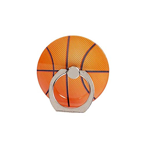 ZOEAST(TM) Phone Finger Ring Sport Ball Holder Case Stand Universal 360° Adjustable Stent Mount Kickstand Sticker Grip Compatible with iPhone 8 7 6 S Plus Samsung Android (Basketball)