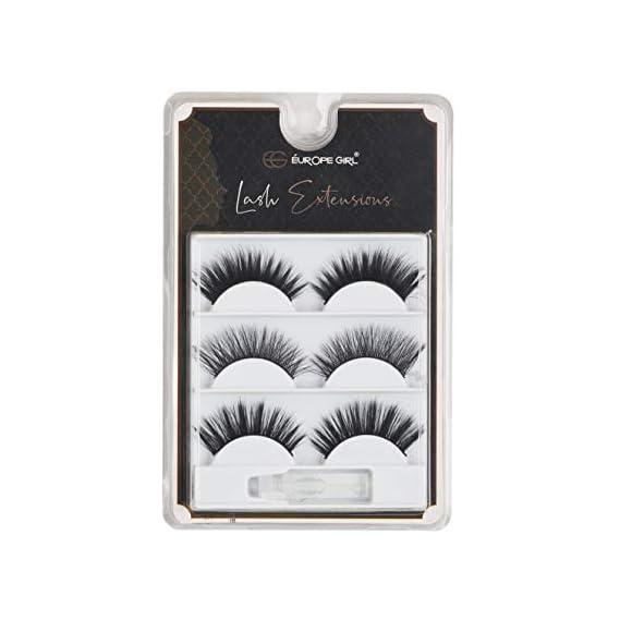 Europe Girl False 3D Eye Lashes with Glue (Set of 3) (01)