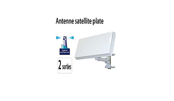 Antena parabólica Plate 2 satélite 2 salidas Astra Hotbird ...