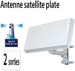 Antena parabólica Plate 2 satélite 2 salidas Astra Hotbird para ...