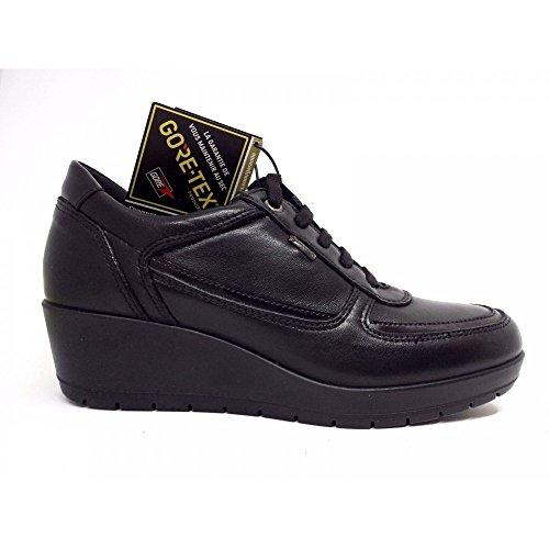 Vera Goretex IGI CO Sneakers Nero Made Donna Igico 5 Zeppa Pelle Scarpe Italy in 87530 qqaxHzZt