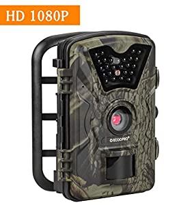 """ECOOPRO Trail Camera 12MP 1080P HD Game Hunting Camera 65ft Infrared Night Vision,90°Detection Angle,24pcs 940nm IR LEDs,2.4"""" LCD Screen&Waterproof IP66 Wildlife Hunting Cam"""