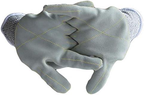 ガーデニング用手袋 ガーデニングとパンク防止パームHPPE5レベルは厚くなる保護労働保険手袋を着用する切断手袋を防ぎます庭の手袋 園芸 採掘 植栽 枝切り 防護手袋
