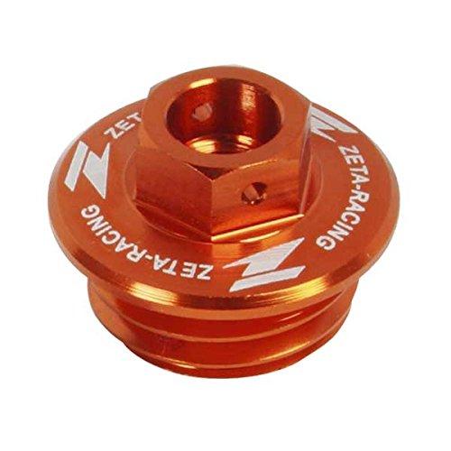 - ZETA Anodized Aluminum ORANGE Oil Filler Plug KTM 65-300 2-ST, 250-690 4-ST ALL