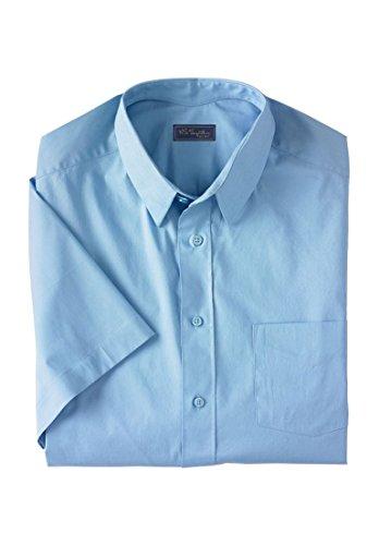 KingSize Men's Big & Tall Classic Fit Broadcloth Flex Short-Sleeve Dress - Shirt Size Neck Dress