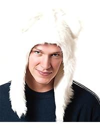 White polar Half Hood Animal Hat