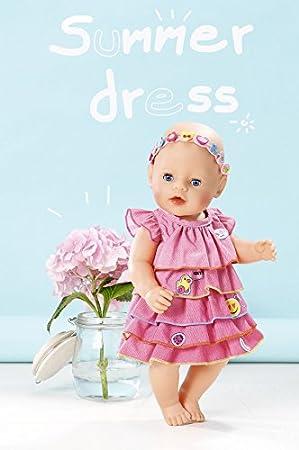 Babypuppen & Zubehör bunt Zapf Creation 824481 Baby Born Sommerkleid Set mit Pins Kleidung & Accessoires