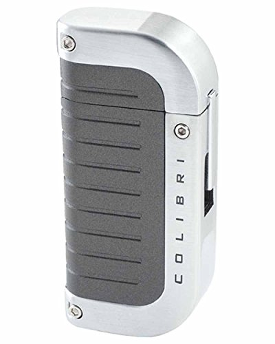 Profusion Quantum Single Windproof Flame Cigar Lighter in an Attractive Gift Box Gunmetal Sand Silver