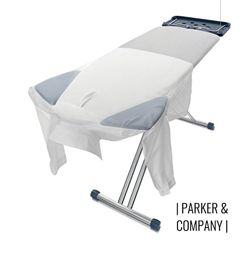Parker Extra Wide Ironing Pro Board with Shoulder Wing Folding by Parker & Company