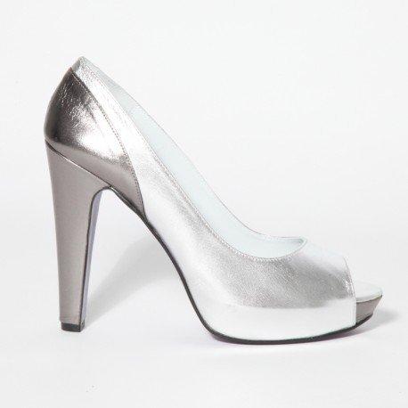 Toe Zapato Para Talla Mujer Laminado Gredos Peep Color Grande Piel ESAdSw
