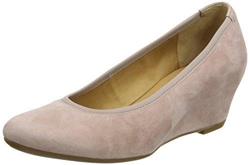 Gabor Fantasy - Zapatos de tacón, Mujer Beige (Beige/Pink Suede)