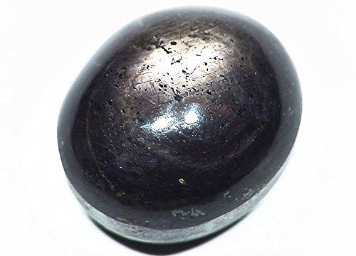 39.20ct Rare Black Star Sapphire Cab Thailand Rough Untreated Healing Gemstone
