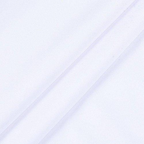 Donna a T Top a Manica Lunga con shirt Manica Manica Sonnena Camicetta da da Eleganti corta M Estiva stampa B corta Camicie da Donna Maglietta Spalline Nero Top 01 Bianco Donne Donna Senza wqtvIZwg6
