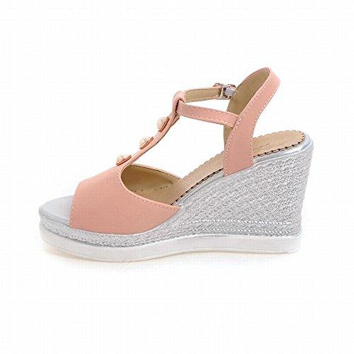 Womens Foot Heel Wedge Sandals Toe Comfort Charm Pink High Platform Peep Strap T gqxOA5w6B