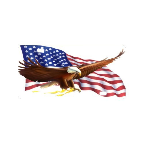 Eagle Flag License Plate with Personalized and Novelty -12