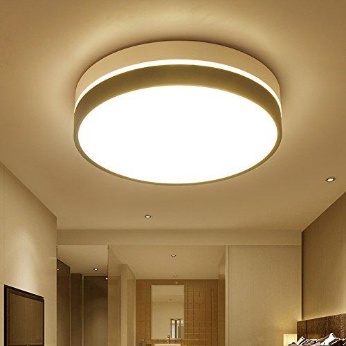 Mmynl Creation Moderne Leger Chaud Plafond Eclairage Led Ronde Pour