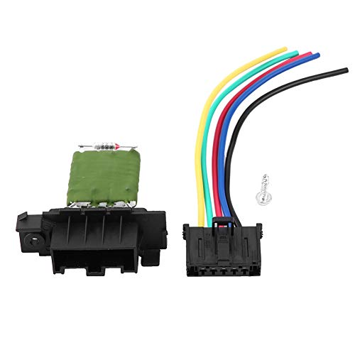 Blower Resistor,Heater Motor Blower Fan Resistor with Wiring Repair Plug Harness: