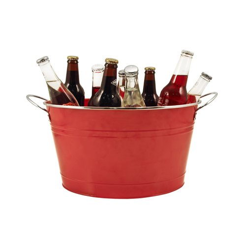Twine Country Home Large Red Galvanized Metal Tub and Drink Bucket by by Twine (Image #1)