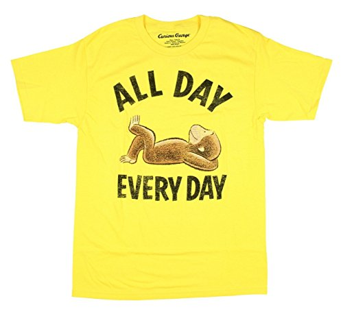 Curious George All Day Every Day Licensed Graphic T-Shirt