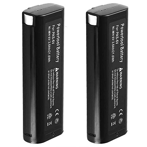 - 3600mAh Replacement Paslode Battery 6vdc Compatible with Paslode 6V 404717 B20544E BCPAS-404717 for 404400 900400 900420 900600 901000 902000 B20720 CF-325