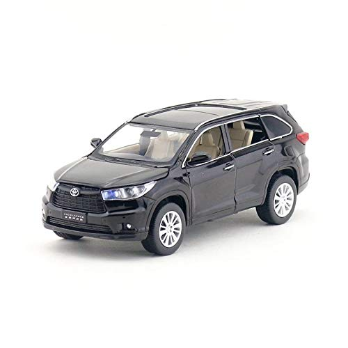 GreenSun 1:32 Scale/Toyota Highlander SUV Sport Car/Pull Back/Sound & Light/Educational Collection/Gift