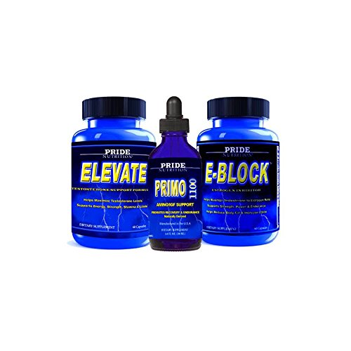 #1 Muscle Building Stack- Testosterone Booster, Anabolic Growth Recovery Support & Estrogen Blocker 3 Bottles- Best Lean Muscle Mass Building Stack (Level 1/Primo Strength 1110) (Muscle Stacks Building Supplement)