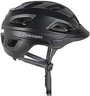 Retrospec cm-4 Bike Helmet with LED Safety Light Adjustable Dial and Removable Visor