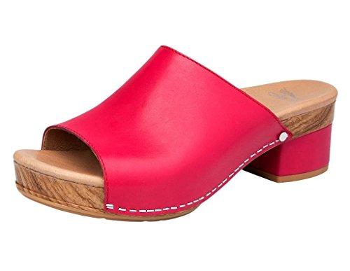 Dansko Women's Maci Sandal Raspberry Full Grain Size 36 EU (5.5-6 M US Women)
