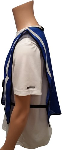 Soft Mesh Royal Blue Vests with Reflective Silver Stripes Jumbo XL Size