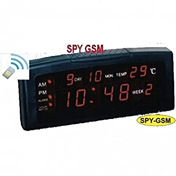 Bay espía GSM de despertador reloj digital con temperatura: Amazon.es: Electrónica