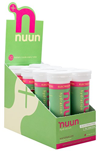 Nuun Hydration: Electrolyte Drink Tablets, Watermelon, Box of 8 Tubes (80 servings), to Recover Essential Electrolytes Lost Through Sweat