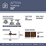 Prominence Home 80137-01 Afton Ceiling Fan, 52, Oil Rubbed Bronze