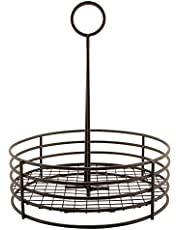 """G.E.T. 4-31850 Black 7.5"""" Round Table Caddy"""