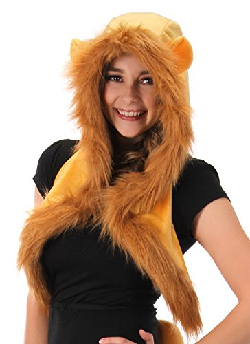 elope Lion Fur Plush Costume Hood with Ears -