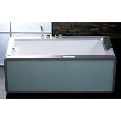 "Eago AM151-L 71""Acrylic Freestanding Whirlpool Tub with Left Hand Drain, Chromot,"