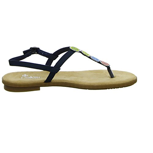 Sandales Blau 14 Femme Rieker 64211 wBzUnvnY