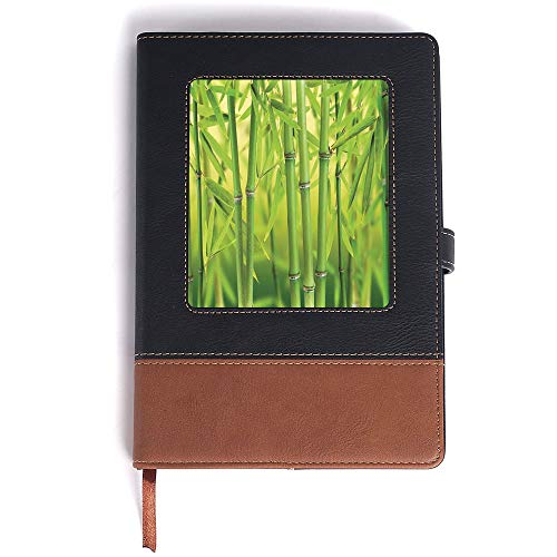 Leather Notebook Thick,Bamboo,Perfect for Gifts - A5/6.04x8.58 ()