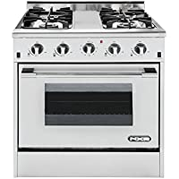 NXR DRGB3001 Professional Style Gas Range, 30, Stainless Steel