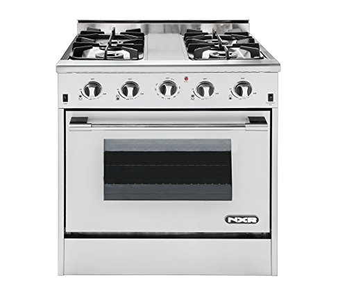 "NXR DRGB3001 Professional Style Gas Range, 30"", Stainless Steel"