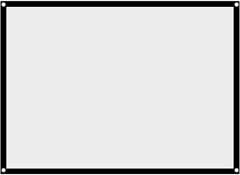 Richer-R Pantalla de Proyector Portátil y Plegable,Pantalla de ...