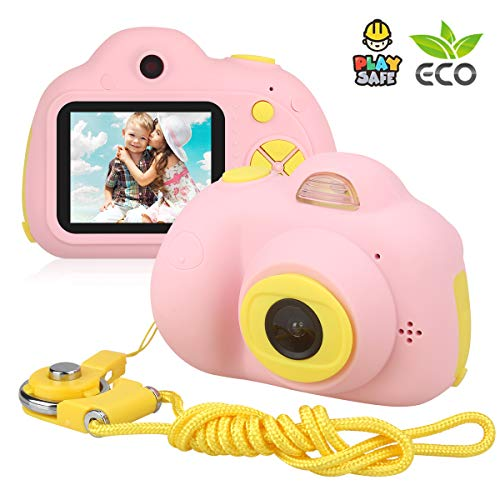 Kids Camera, DECOMEN Digital Camera for Kids with Front and Rear Camera, 8MP HD Mini Digital Camcorder for Kids Aged 4-10 with Flash, 4X Digital Zoom, and Rechargeable Battery(SD Card Not Included)