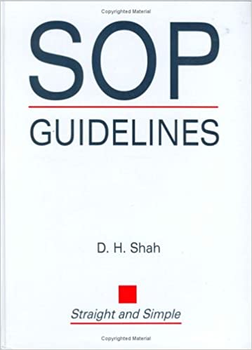 Sop Guidelines By Dh Shah Pdf