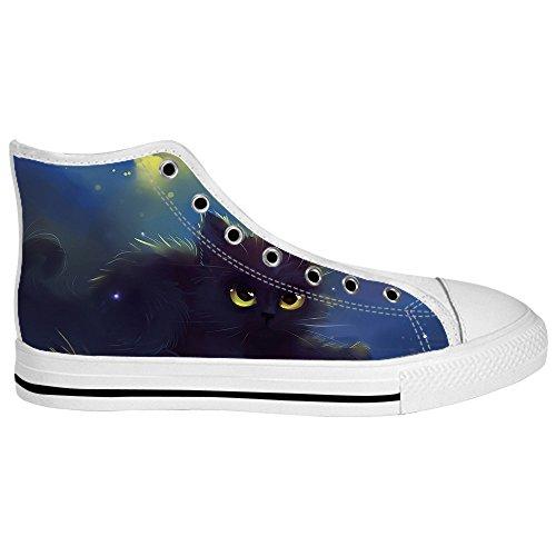 Custom Katzen malen Mens Canvas shoes Schuhe Lace-up High-top Sneakers Segeltuchschuhe Leinwand-Schuh-Turnschuhe A